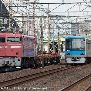 EF81(81号機)~小田急4000形とのすれ違い