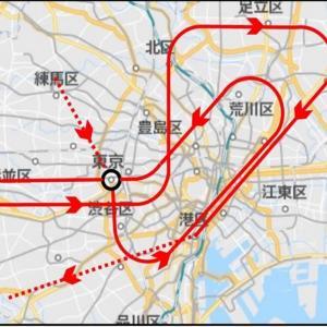 ブルーインパルス(飛行ルート)~東京駅が…