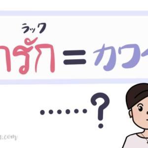 【タイ語単語】「可愛い」を意味する「ナーラック/น่ารัก」のもう一つの意味