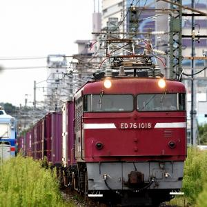 ED76-1018号機牽引の貨物「1091レ」を撮る