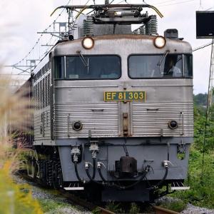 EF81-303号機牽引の貨物「4075レ」を撮る(4)