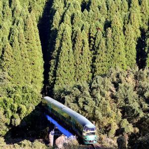 ギリギリ間に合って撮る、キハ71系「ゆふいんの森」