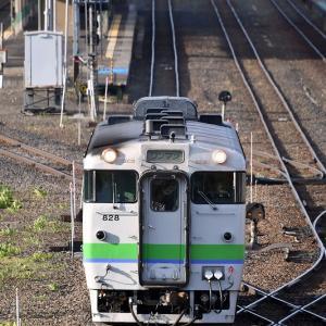 遠軽駅発車シーンを撮る、キハ40形「4624D」