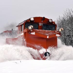 天候に恵まれ良かった、DE15形「雪372レ」