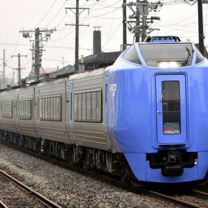 洞爺駅で撮る、キハ281系「スーパー北斗」