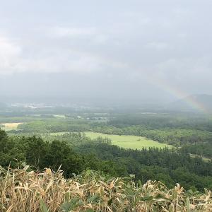 雨を降らせてゴメンネ!のお礼かな?、久しぶりの幸運の虹