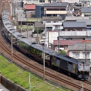 俯瞰で編成を撮る、77系「ななつ星in九州」