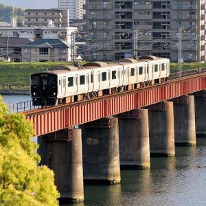 大淀川橋梁で撮る(3)、817系「744M」