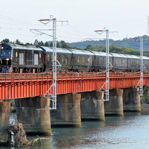1ツ瀬川橋梁で本命を撮る、77系「ななつ星in九州」