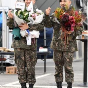 韓国 この笑顔なんてす!ヨンベ&テソン除隊 (^○^)