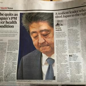 David McNeill's article on Abe's resignation