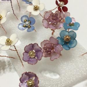 全員集合〜お花をたくさん作りましたヽ(^o^)丿