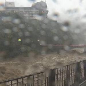 台風19号直撃!?ー箱根湯本駅前は早川の水があふれた…!!