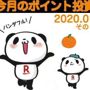 今月のポイント投資 (* ̄∇ ̄*)エヘヘ 2020.01 その2