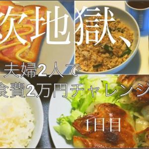【簡単料理】夫婦2人で1ヶ月食費2万円チャレンジその1【節約】