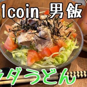 サラリーマンの1coin節約飯【サラダうどん】