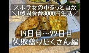 【節約料理】ズボラ女が挑む一週間3,000円生活vol.14【同棲】