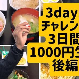 【節約】3daysチャレンジ 3日間1000円生活 後編