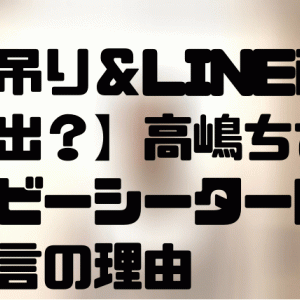 【LINE画像が流出?】高嶋ちさ子がベビーシーター問題で無言の理由とは?