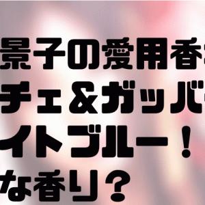 北川景子の愛用香水はドルチェ&ガッバーナのライトブルー!どんな香り?