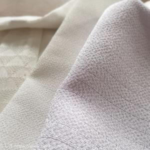 今時期にちょうど良い絽ちりめんの半衿と帯揚げ。