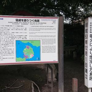 黒神埋没鳥居: 鹿児島・鹿児島市