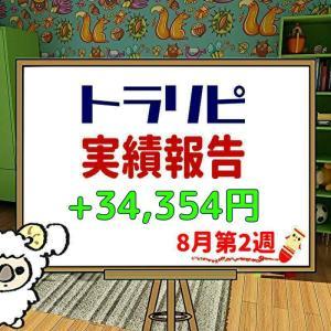 手動トラリピなどのFX週間実績【8月第2週】+34,354円