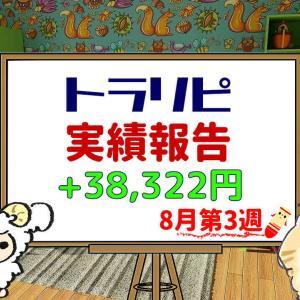 手動トラリピなどのFX週間実績【8月第3週】+38,322円