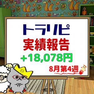 手動トラリピなどのFX週間実績【8月第4週】+18,078円