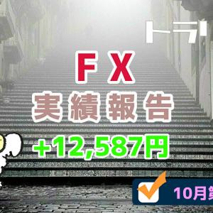 手動トラリピなどのFX週間実績【10月第3週】+12,587円