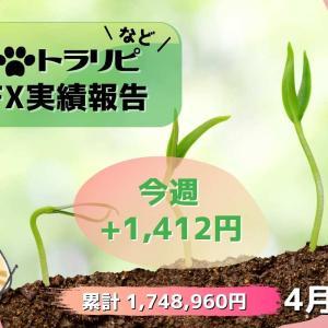 FX週間実績【4月第2週】手動トラリピの確定利益が・・・・ゼロ!