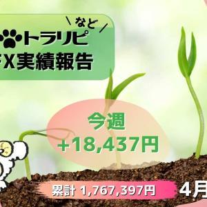 FX週間実績【4月第3週】異常事態!手動トラリピ確定利益が2週連続0円