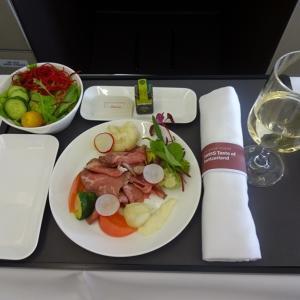 スイス・エア ビジネスクラスの機内食~成田からチューリッヒまで~