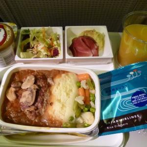 JALエコノミークラスの機内食~フランクフルトから成田まで~