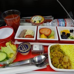 JL005便ニューヨークから成田までのエコノミークラス~シートと機内食~