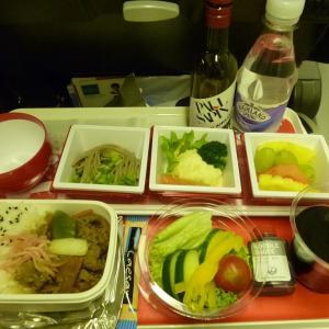 JALエコノミークラスの機内食 ~JL402便ヒースローから成田まで~