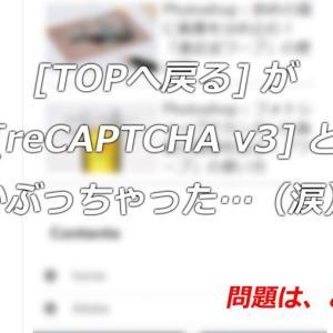 WordPress:TOPへ戻るボタンがreCAPTCHAとかぶっちゃった…を解決するプラグイン