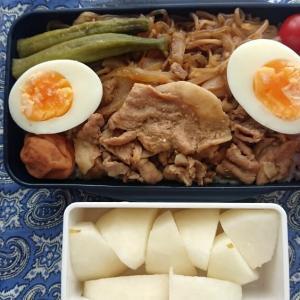 豚すき丼弁当デザート付き