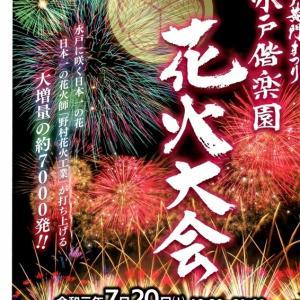 明日は水戸の花火大会