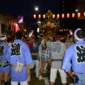 水戸黄門祭りでお神輿