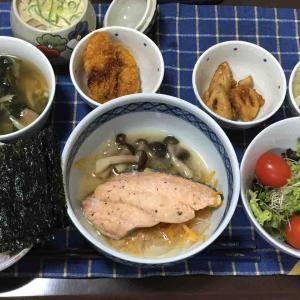 鮭の蒸し料理