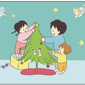 クリスマスツリーと神龍