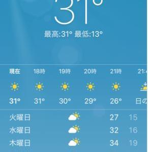 30℃越え