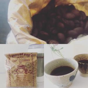 ほろ苦いコーヒー&甘いきなこもち