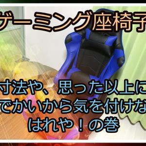 【雑談】ゲーミング座椅子?到着!椅子にしなかった訳