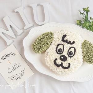 1歳の誕生日ケーキと離乳食プレート♡