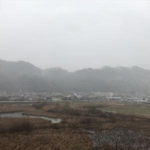 竜爪山と霧…静岡市葵区麻機 (あさはた)