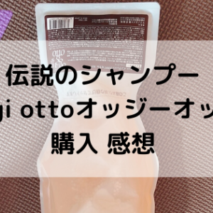 伝説のシャンプーoggi ottoオッジィオットを購入!感想