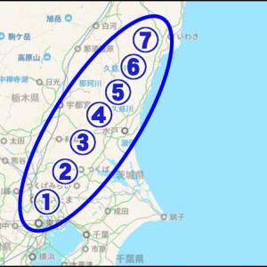 01/23(木)「[その4]常磐道【三郷IC-いわきJCT】」放射線量マップ