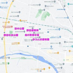 06/15(火)「【告知】野田町・南中央・東中央(福島市)」放射線量マップ